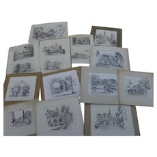 LEONARD SCHEU (1904-1995) group of 18 pencil drawings by listed California artist