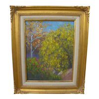Contemporary American impressionist signed landscape painting