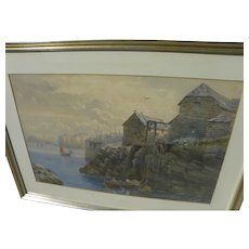 JAMES ELLIOTT (mid/late 19th century English) watercolor coastal painting dated 1875