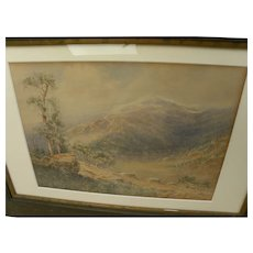 CARROLL COLBY CHILD (1868-1932) scarce watercolor painting of southern Colorado mountains