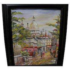 Montmartre Paris impressionist signed painting