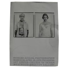 RICHARD AVEDON (1923-2004) hand signed small poster for 1976 exhibition by the famous 20th century photographer