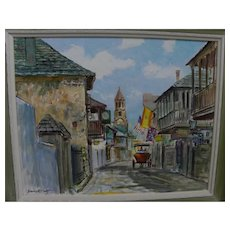 EMMETT FRITZ (1917-1995) St. Augustine Florida painting fine example by noted artist