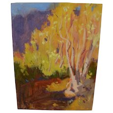 Impressionist colorful contemporary Southwest landscape painting signed