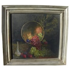 MARY H. WICKER (1868-1942) impressionist still life painting by noted Illinois artist
