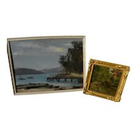 BERTRAM BRYNING (1875-1960) **pair** landscape paintings by listed Australian artist