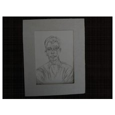 "ALBERTO GIACOMETTI (1901-1966) original unsigned lithograph print circa 1961 ""Diego"" from ""Derriere Le Miroir"" by Maeght"