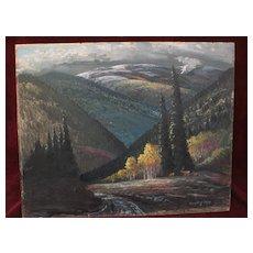 EVERETTE H. SLOAN 20th century New Mexico art landscape painting mountains near Santa Fe