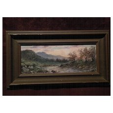 Signed American watercolor landscape painting circa 1920's