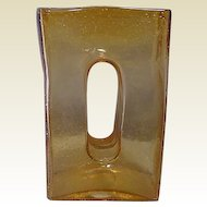 Art Glass Vase Light Amber