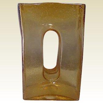 Art Glass Vase Light Amber