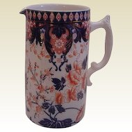 English Staffordshire Imari Pitcher