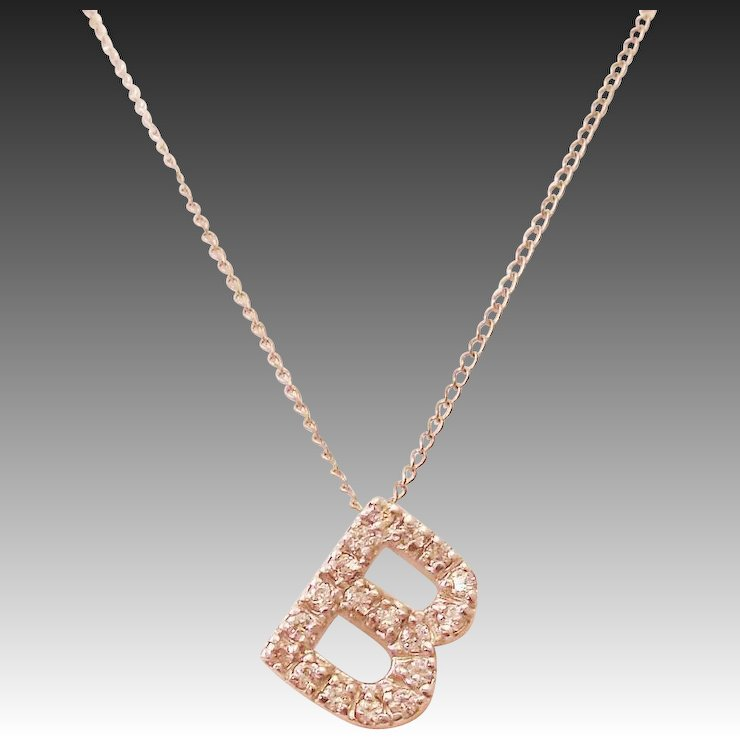 Elegant sterling silver cubic zirconia initial letter b necklace elegant sterling silver cubic zirconia initial letter b necklace aloadofball Choice Image