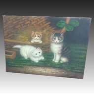 Kitten Acrylic Paint Embellishment Giclee on Canvas