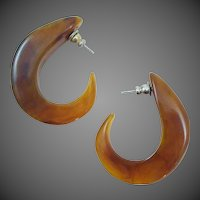 Mesmerizing Marble Vintage Tribal Earrings