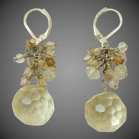 Dangle Drippy Cut Crystal Drop Earrings