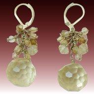 Dangle Drippy Cut Crystal Drop Earrings