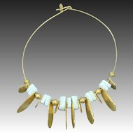 Incredible Signed CADORO Egyptian Revival Collar Necklace