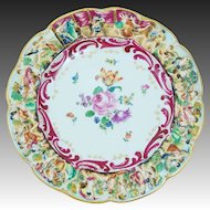 German Porcelain Rudolstadt Display Cabinet Plate Capodimonte Style
