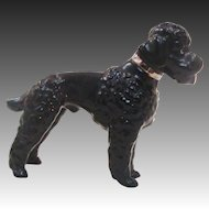 Metzler Ortloff Germany Black Poodle Dog Figurine