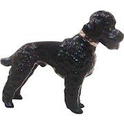 Metlzer Ortloff Germany Black Poodle Dog Figurine