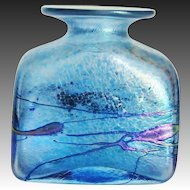 Incredible Robert Held Art Glass Iridescent Square Vase