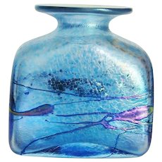 Incredible Robert Held Art Glass Iridescent Square Vase