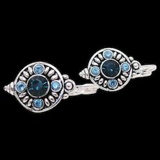 Sparkling Edgar Berebi Rhinestone Leverback Earrings