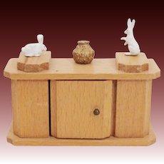 Blonde Solid Wood Side Board ~ Dry Sink ~ Hutch