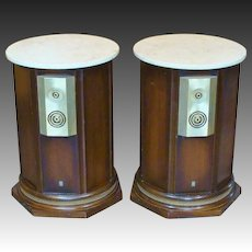 Empire 9000 Royal Grenadier Mid-Century Modern Speakers Marble Top Tables Circa 1968