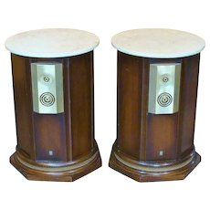 Empire 9000 Royal Grenadier Mid-Century Modern Speakers Marble Top Tables Circa 1968