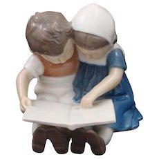 Bing & Grondahl Denmark Porcelain Children Reading Book #1567