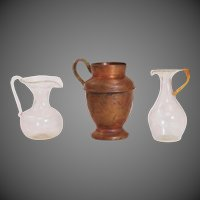 Dollhouse Pitcher Serving Blown Glass & Copper Collection