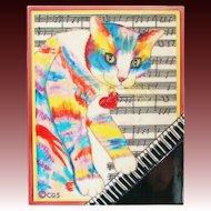 "Delightful Rainbow Cat ""Mewzette"" by Claudia Sanchez"