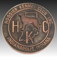 Vintage Hoosier Kennel Club Best of Breed 1969 Dog Show Medal