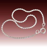 1970's Sterling Silver Serpentine Chain Bracelet Avon Shimmering Touch