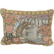 Vintage 1980's Curious Bunny Rabbit Accent Pillow