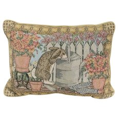 Vintage 1980's Curious Bunny Rabbit Accent Pillow