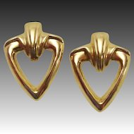 14K Gold Estate Chunky ~ Classic Statement Earrings