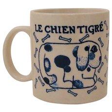 1978 Taylor & Ng French Country Kitchen Mug Le Chien ~ Le Chien Tigré Mug