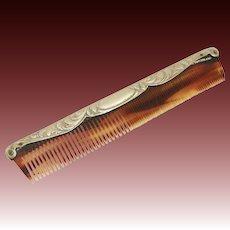 Vintage Romantic Ornate Silver Hair Comb