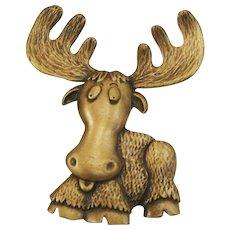 Whimsical Moose Pin by JJ ~ Jonette Jewelry Co.