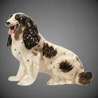 Mid-Century Modern Hollywood Regency Ronzan Spaniel Dog Statue Made in Italy