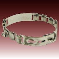 Antique Metal Link Dog or Cat Collar