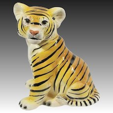 Hollywood Regency Revival Life-Size Tiger Cub Statue