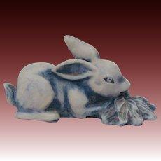 Delightful Vintage Handcrafted Bunny Rabbit Signed Figurine