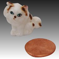 Miniature Bone China Fluffy Persian Kitty Cat Figurine