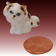 Miniature Bone China Fluffy Persian Kitty Cat Figurine
