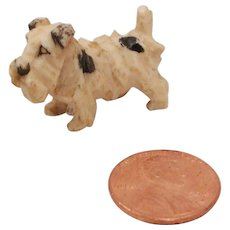 Tiny Early Celluloid Terrier Dog Toy Figurine