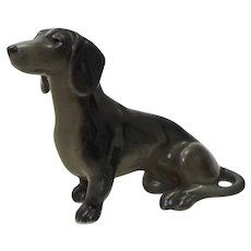 Early Metzler & Ortloff of Germany Porcelain Dachshund Dog Sitting